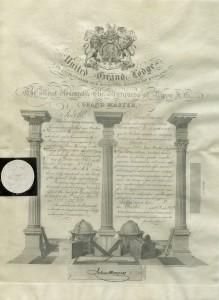 Thomas Ladners Masonic / Freemason Certificate